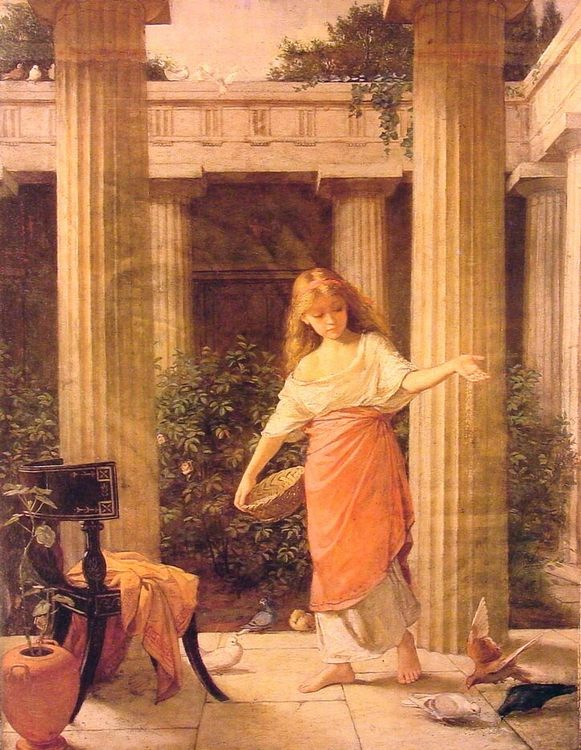 In the Peristyle :: John William Waterhouse - Antique world scenes ôîòî