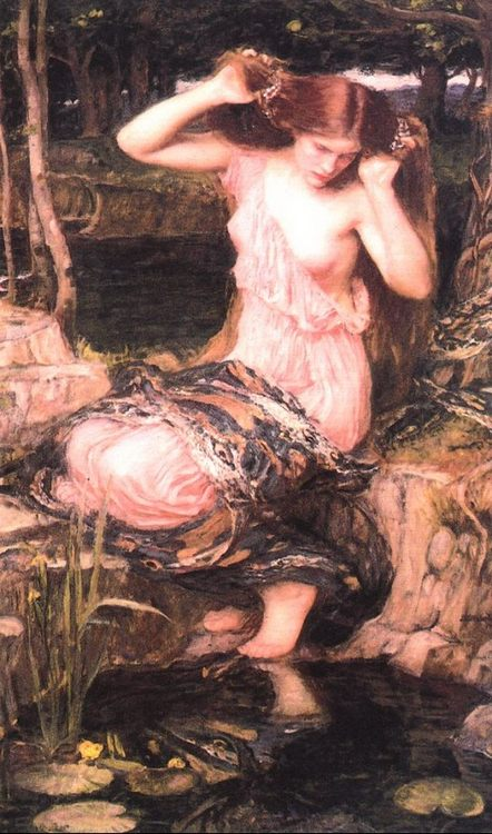 Lamia :: John William Waterhouse - mythology and poetry ôîòî