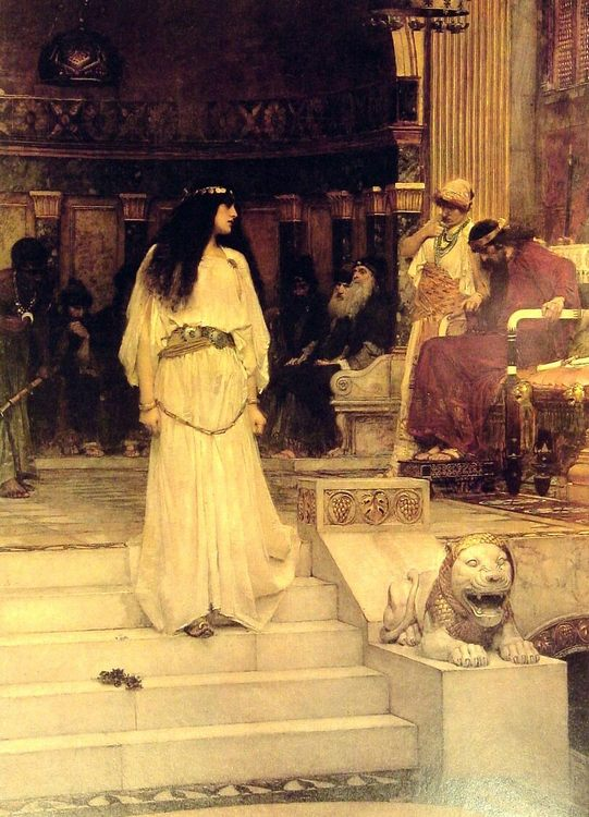 Mariamne Leaving the Judgement Seat of Herod :: John William Waterhouse - Antique world scenes фото