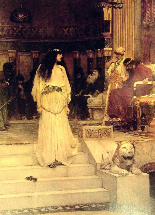 Mariamne Leaving the Judgement Seat of Herod :: John William Waterhouse - Antique world scenes фото