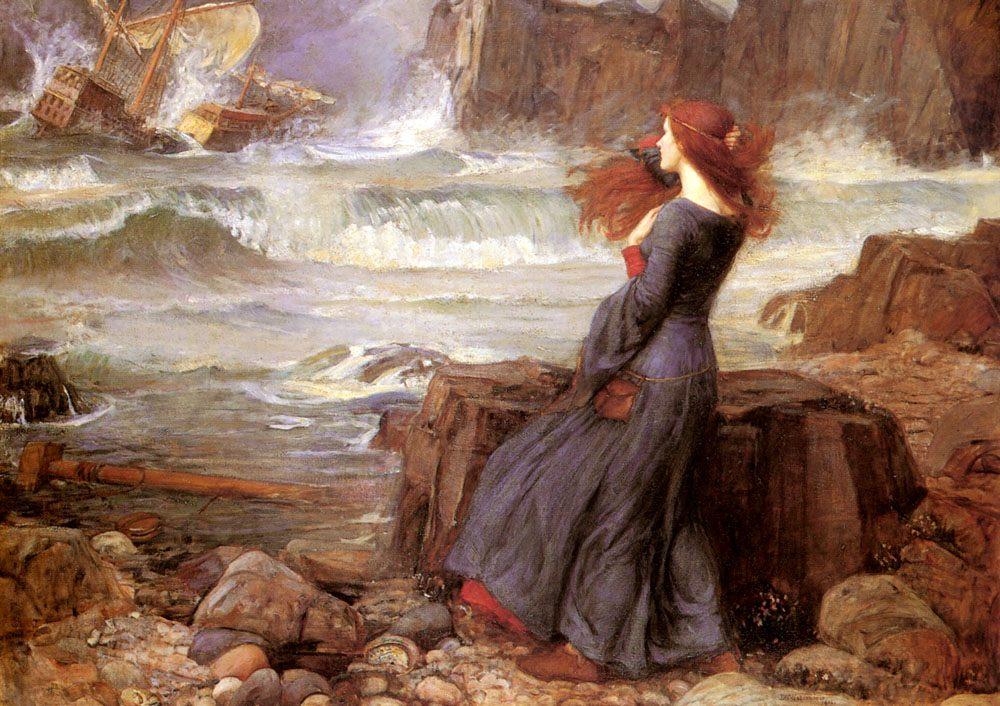 Miranda - The Tempest :: John William Waterhouse - mythology and poetry фото