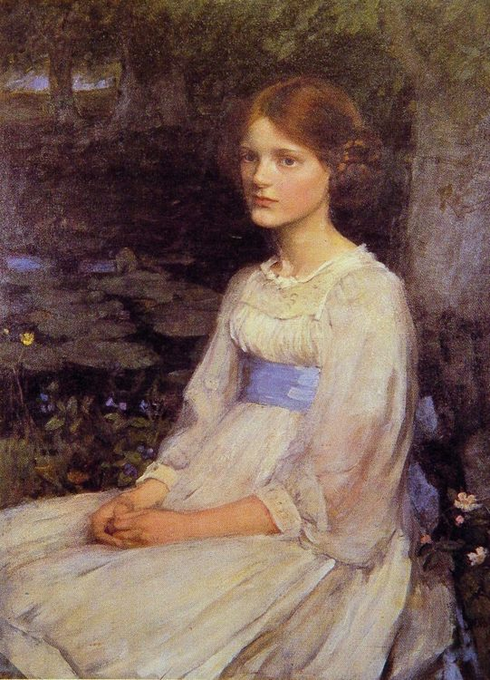 Miss Betty Pollock :: John William Waterhouse - 8 female portraits hall ôîòî