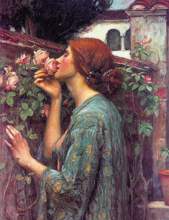 My Sweet Rose :: John William Waterhouse - Young beauties portraits in art and painting ôîòî
