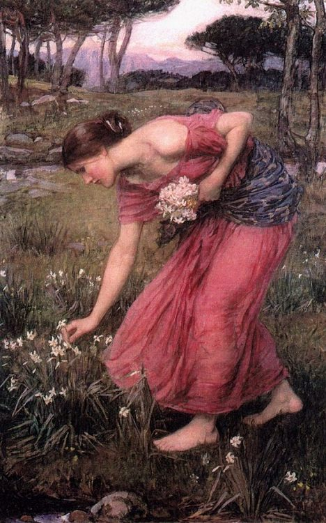 Narcissus :: John William Waterhouse - mythology and poetry фото