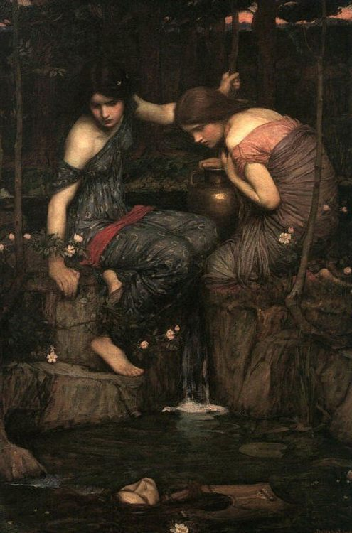 Nymphs finding the Head of Orpheus :: John William Waterhouse - mythology and poetry фото