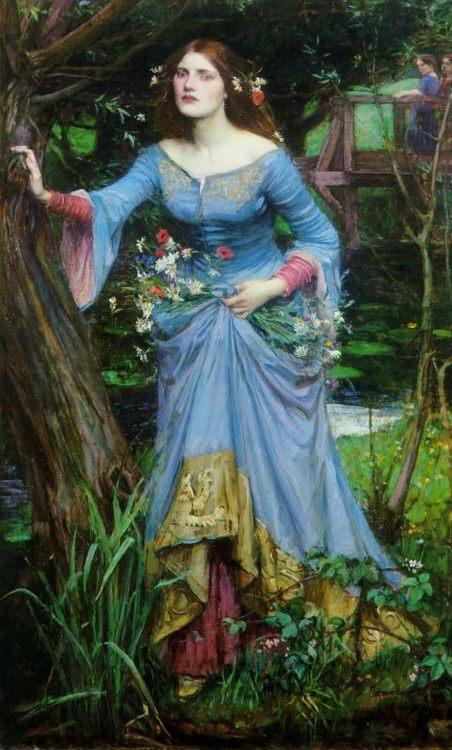 Ophelia :: John William Waterhouse - mythology and poetry фото