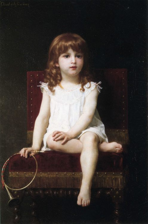 Portrait of Rudyard Kipling's Daughter :: Elizabeth Jane Gardner Bouguereau - Portraits of young girls in art and painting фото