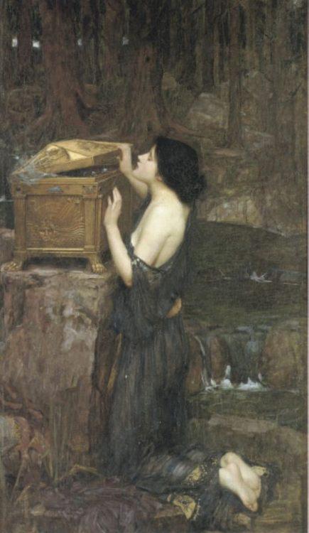 Pandora :: John William Waterhouse - mythology and poetry фото