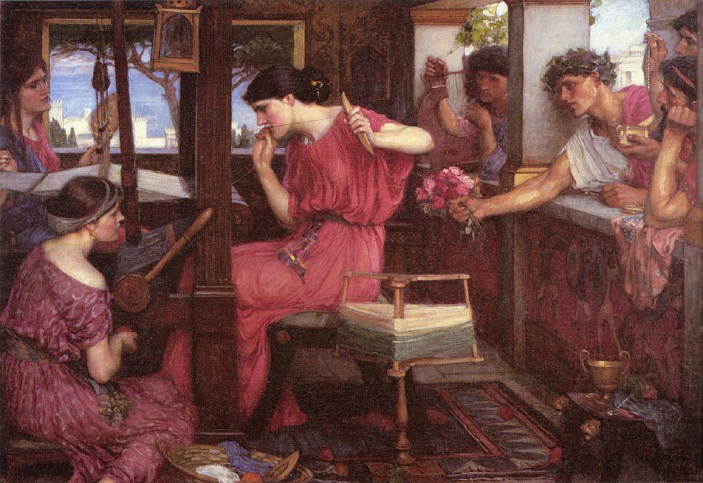 Penelope and the Suitors :: John William Waterhouse - mythology and poetry ôîòî