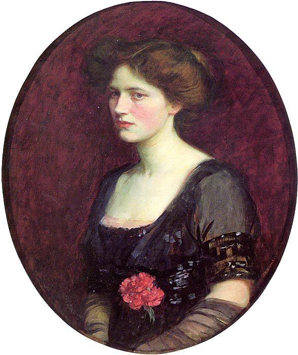 Portrait of Mrs. Charles Schreiber :: John William Waterhouse - 8 female portraits hall фото