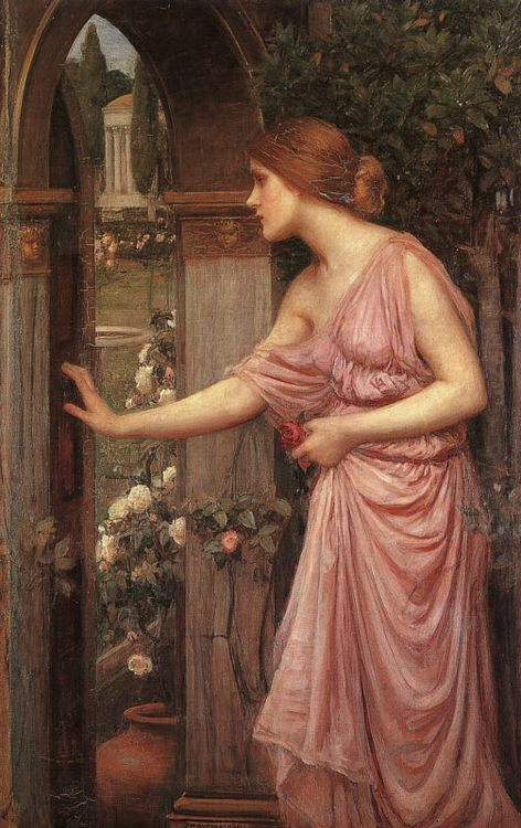Psyche Entering Cupid's Garden :: John William Waterhouse - mythology and poetry фото