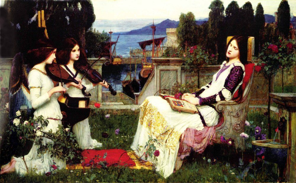 Saint Cecilia :: John William Waterhouse - mythology and poetry фото