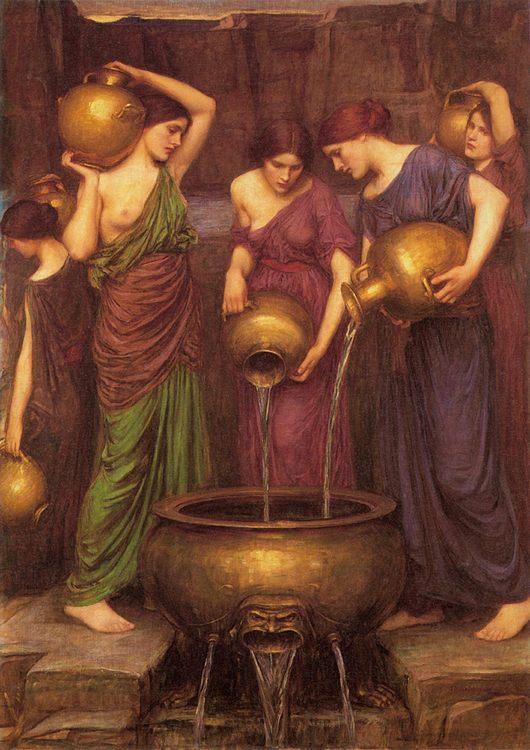 The Danaides :: John William Waterhouse - mythology and poetry ôîòî