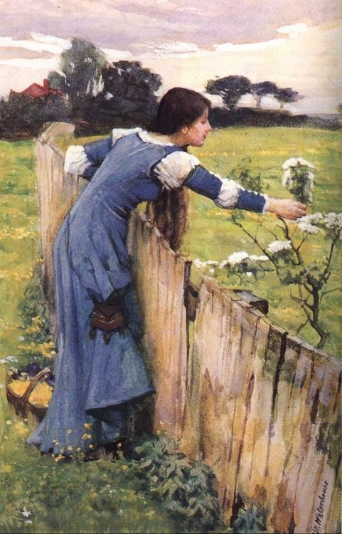 The Flower Picker :: John William Waterhouse - Young beauties portraits in art and painting фото