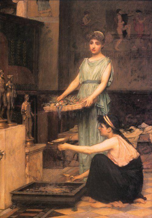 The Household Gods :: John William Waterhouse - Antique world scenes фото