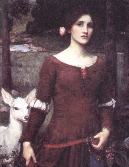 The Lady Clare :: John William Waterhouse - mythology and poetry ôîòî