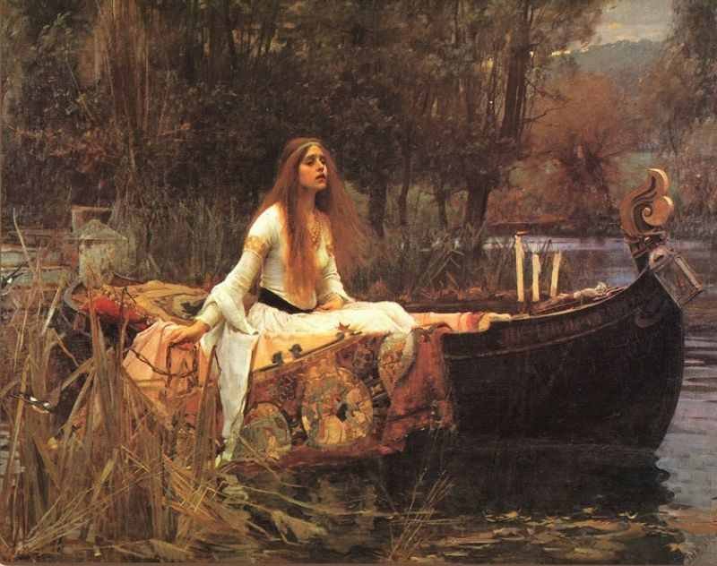 The Lady of Shalott :: John William Waterhouse - mythology and poetry ôîòî