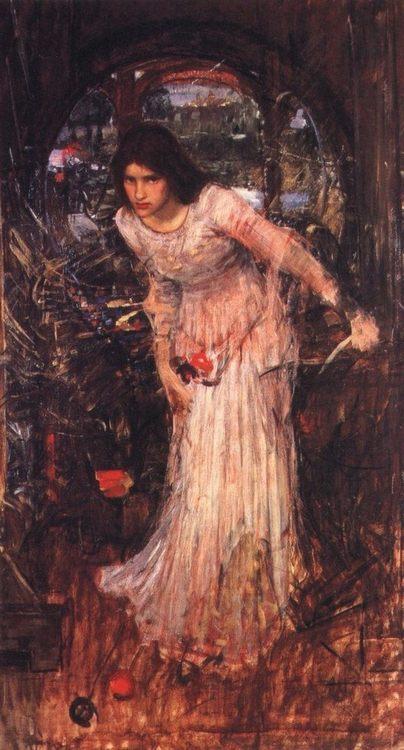 The Lady of Shalott :: John William Waterhouse - mythology and poetry ôîòî