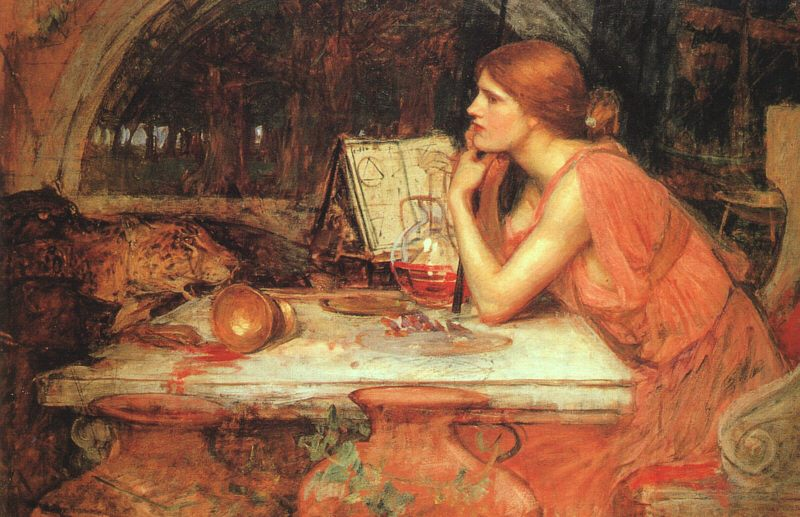 The Sorceress :: John William Waterhouse - mythology and poetry фото