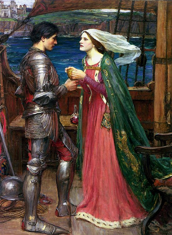 Tristan and Isolde with the Potion :: John William Waterhouse - mythology and poetry фото