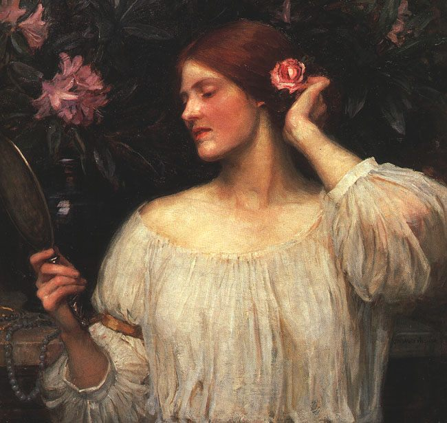 Vanity :: John William Waterhouse - Allegory in art and painting фото