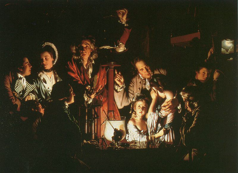 Experiment with the Air-Pump :: Joseph Wright of Derby - Romantic scenes in art and painting ôîòî