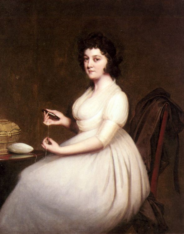 Portrait of Mrs Abney :: Joseph Wright of Derby - 4 women's portraits 18th century hall фото