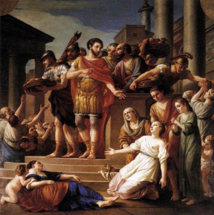 Marcus Aurelius Distributing Bread to the People :: Joseph-Marie Vien - Antique world scenes фото