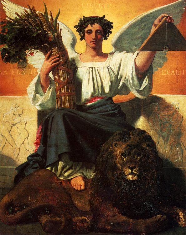 The Republic :: Jules Claude Ziegler - Allegory in art and painting ôîòî