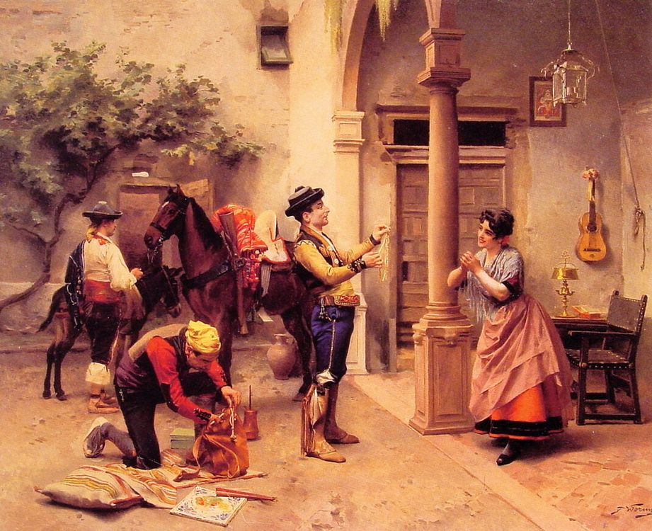 The Golden Necklace :: Jules Worms - Romantic scenes in art and painting ôîòî