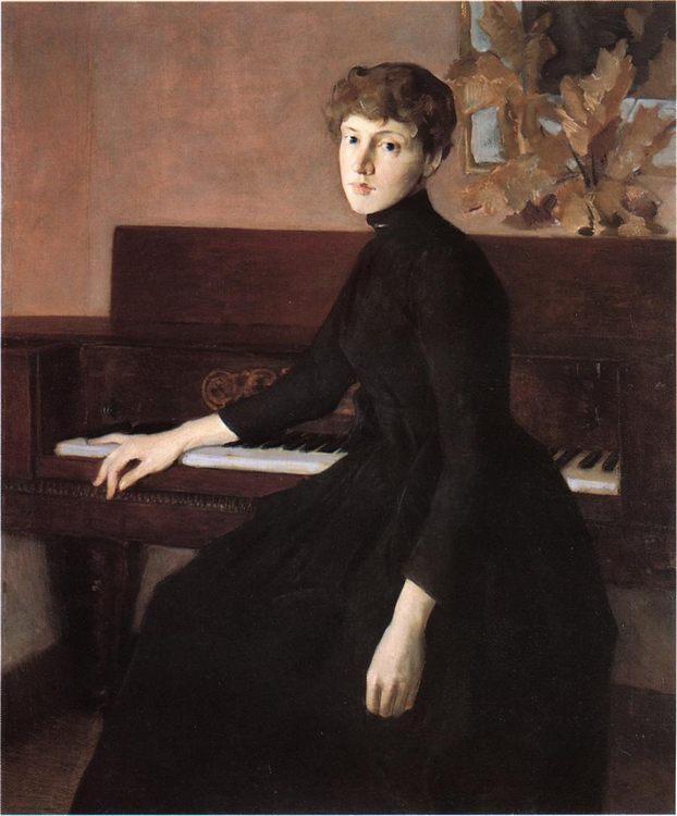 At the Piano :: Julian Alden Weir - 8 female portraits hall ôîòî