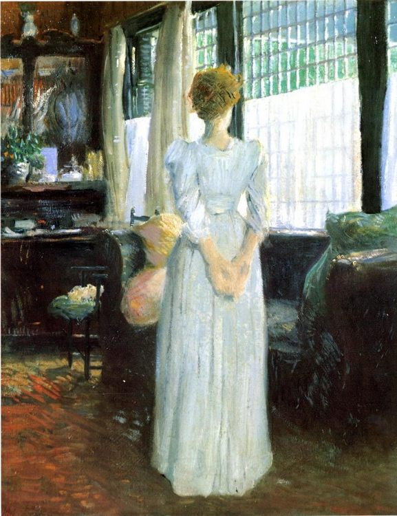 In the Livingroom :: Julian Alden Weir - Interiors in art and painting фото