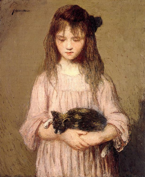 Little Lizie Lynch :: Julian Alden Weir - Portraits of young girls in art and painting фото