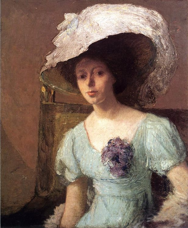 The Blue Gown :: Julian Alden Weir - 8 female portraits hall ôîòî