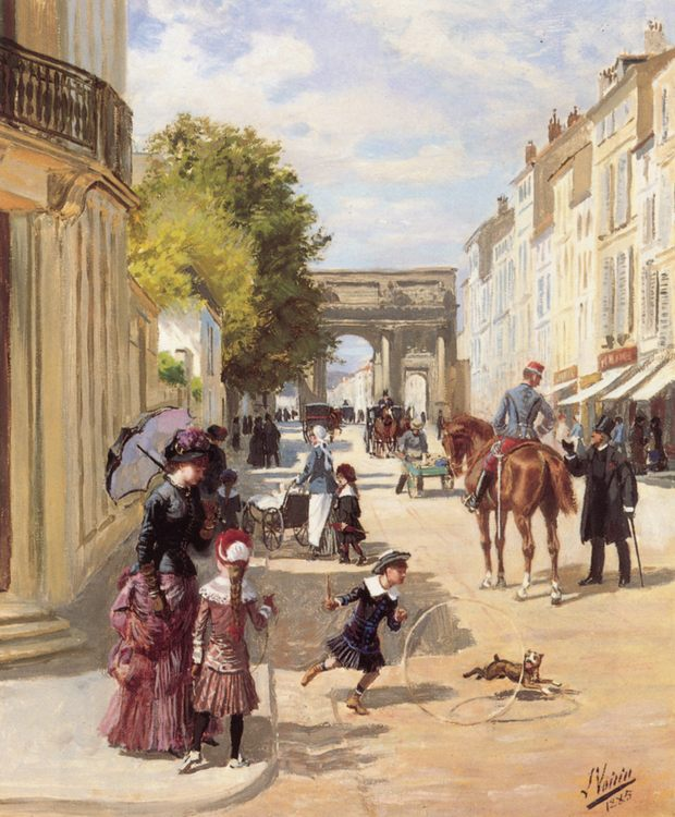 A Summer's Day, Nancy :: Leon Joseph Voirin - Street and market genre scenes фото