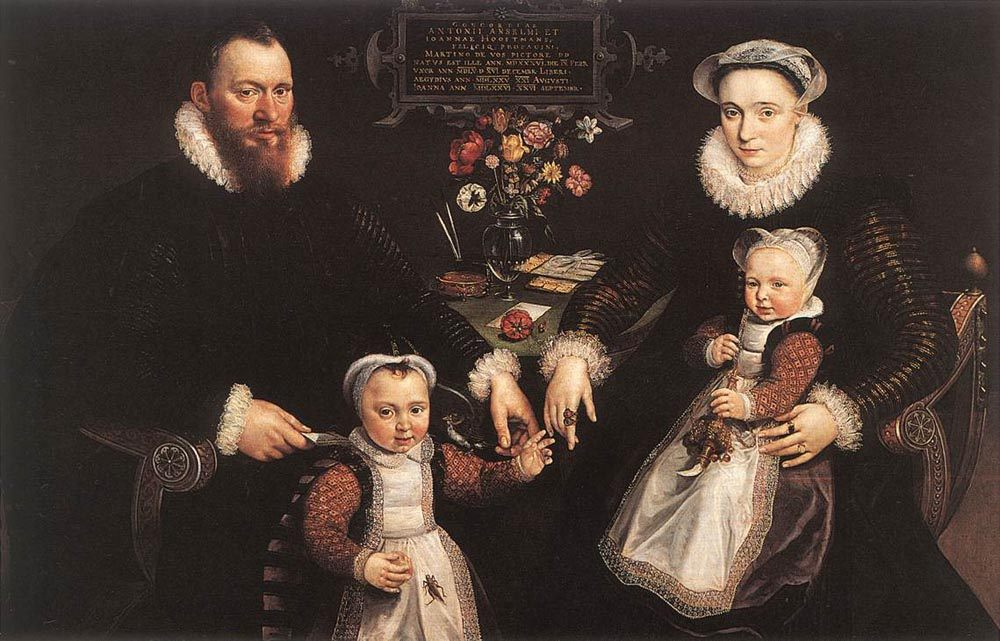 Portrait of Antonius Anselmus, His Wife and Their Children :: Maarten de Vos - Family Portrait ôîòî