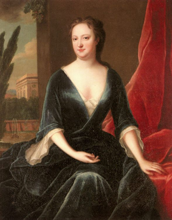 Portrait of A Lady :: Maria Verelst - 4 women's portraits 18th century hall фото