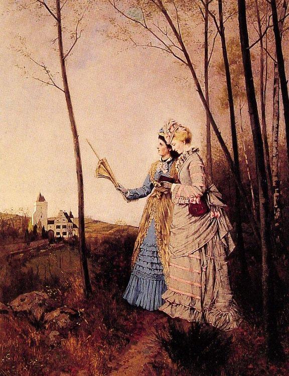 The Promenade :: Max Volkhart - Romantic scenes in art and painting ôîòî