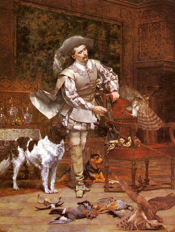 The Falconer :: Paul Alphonse Viry - Hunting scenes ôîòî