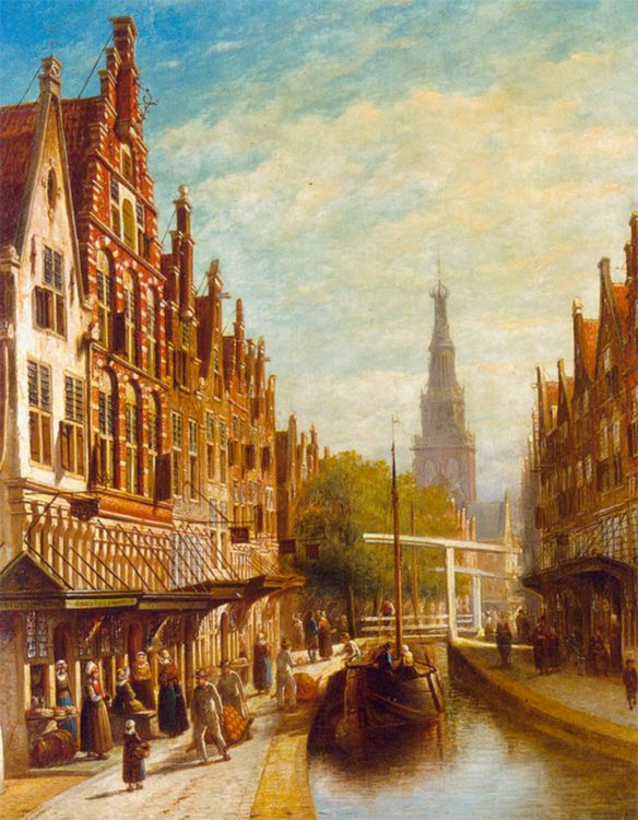 A View of Alkmaar :: Pieter Gerard Vertin - Holland and Dutch фото