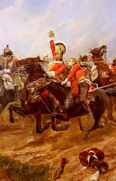 Life-Guards Charging At The Battle Of Waterloo :: Richard Caton Woodville - History painting фото