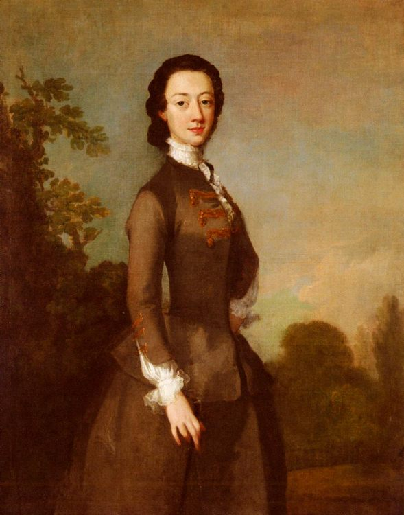 Portrait Of A Lady, Possibly A Member Of The Foley Family :: Richard Wilson - 4 women's portraits 18th century hall фото