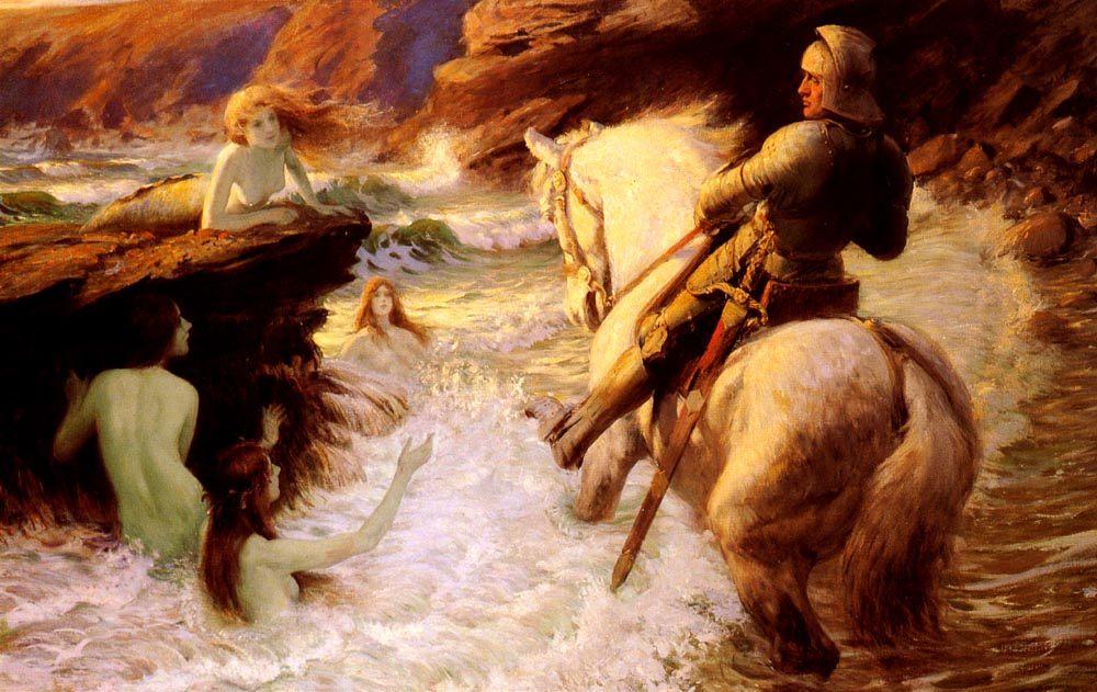 The Enchanted Shore :: Rowland Wheelwright, R.B.A - mythology and poetry ôîòî