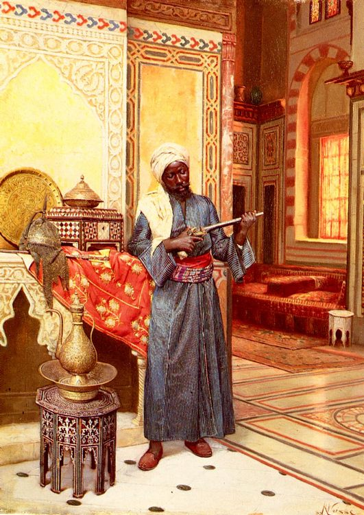 The Harem Guard :: Rudolphe Weisse - scenes of Oriental life (Orientalism) in art and painting ôîòî