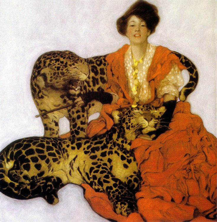 Woman with Leopards :: Sarah Stilwell Weber - 8 female portraits hall фото