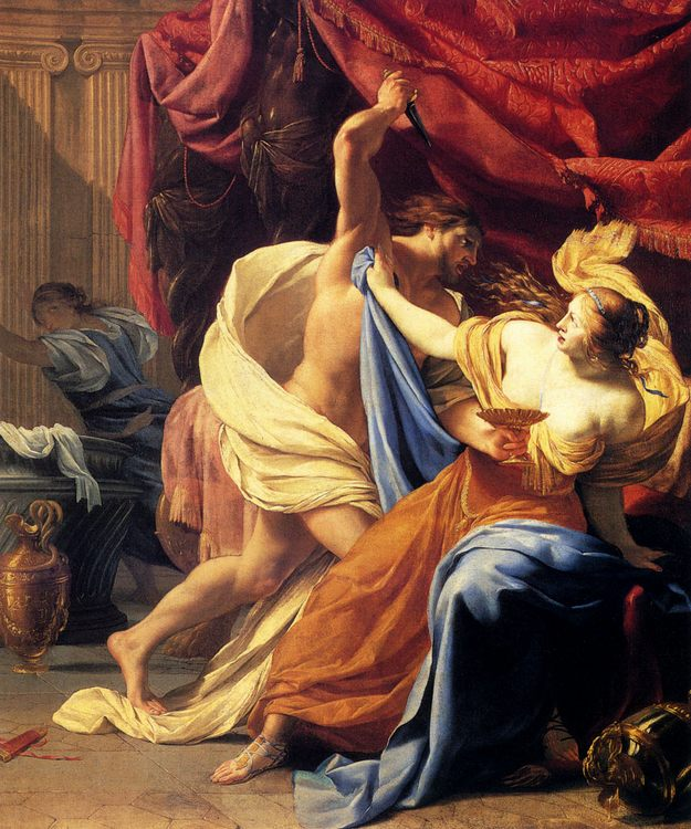 Lucretia And Tarquin :: Simon Vouet - History painting фото