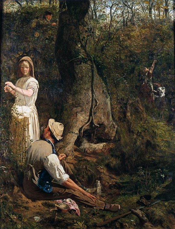 Blackberry Gatherers :: Thomas Wade - Romantic scenes in art and painting фото
