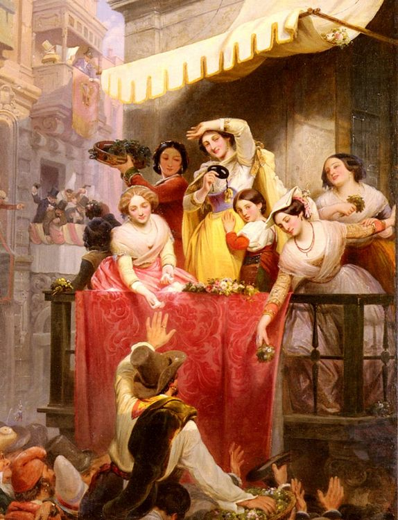 Carnival In Rome :: Wilhelm Wider - Romantic scenes in art and painting ôîòî
