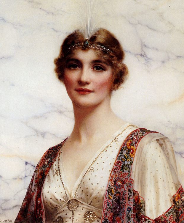 The Fair Persian :: William Clarke Wontner - Young beauties portraits in art and painting фото