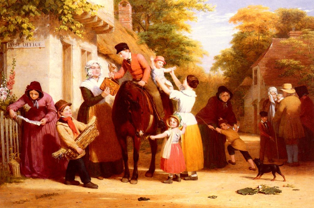 The Village Post Office :: William Frederick Witherington - Street and market genre scenes ôîòî